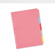 Premier Manilla A4 Dividers With Multi-Colour Tabs